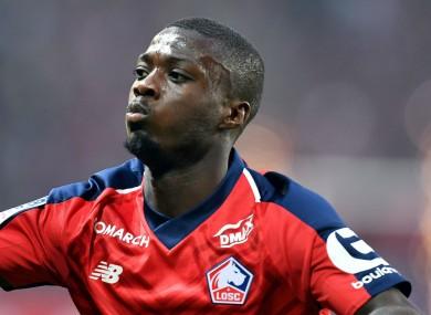 Lille forward Nicolas Pepe.