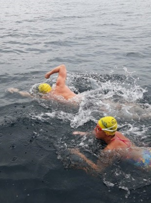 Tom and Ronan during the challenge.