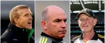 Henry Shefflin, DJ Carey and Brian Cody.