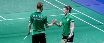 Sam Magee and Chloe Magee at this summer's European Games.