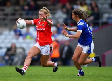 Cork's Saoirse Noonan under pressure from Ciara Finnegan.