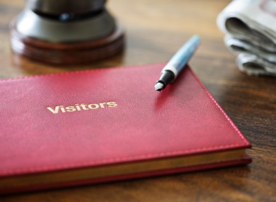 Visitor books have been banned from several heritage sites in Ireland including Dublin Castle and Kilmainham Gaol.