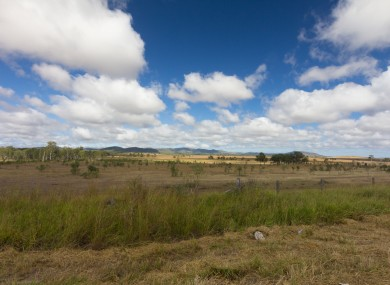 Outback territory north of Rockhampton, Queensland
