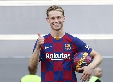 Frenkie De Jong during his presentation as FC Barcelona new player.