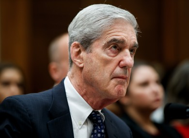 Former US Special Counsel Robert Mueller testifies before the House Judiciary Committee yesterday.