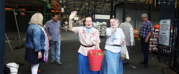 Gemma and Triona King leave Dublin's Victorian Fruit Market for the last time