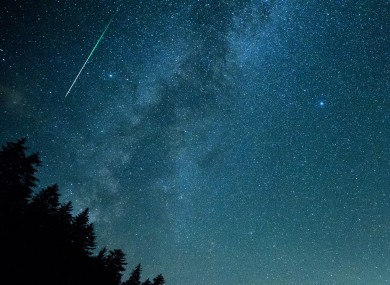 File photo. An image in Germany of the Perseids last year
