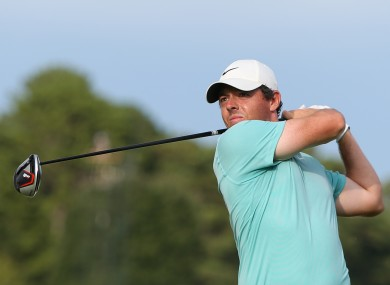 Rory McIlroy in action at East Lake Golf Club.