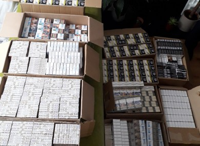 The seized cigarettes