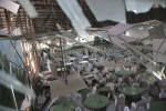 A view of damaged wedding hall.