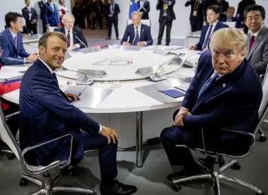 French President Emmanuel Macron (left) and US President Donald Trump (right) at the G7 Summit in France.