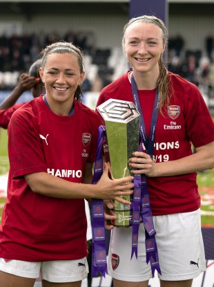 Irish duo Katie McCabe and Louise Quinn helped Arsenal to the title last season.