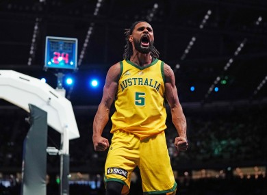 Patty Mills sank 30 points for Australia.