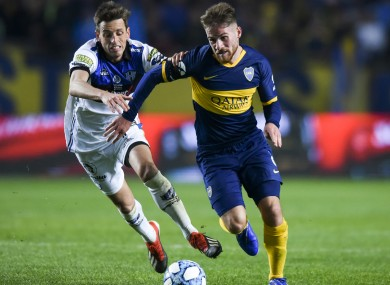 Alexis Mac Allister is on loan at Boca from Brighton.