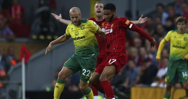 As it happened: Liverpool v Norwich, Premier League