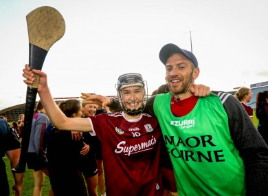 Galway's Carrie Dolan celebrates after the game.