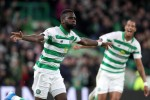 Celtic's Odsonne Edouard celebrates his second-half goal.