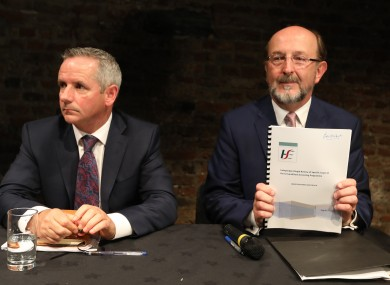 HSE CEO Paul Reid (left) with Prof Brian MacCraith at today's press conference