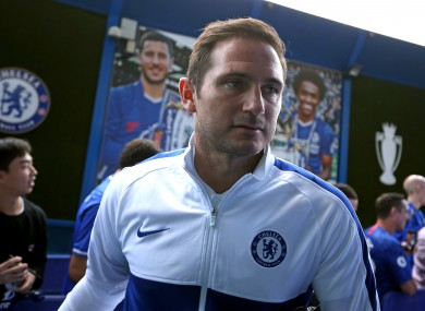 Chelsea manager Frank Lampard at Stamford Bridge.