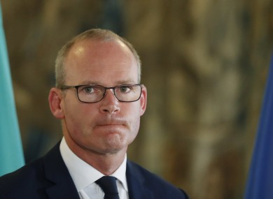Simon Coveney has said the suspension of the UK parliament is a matter for them.