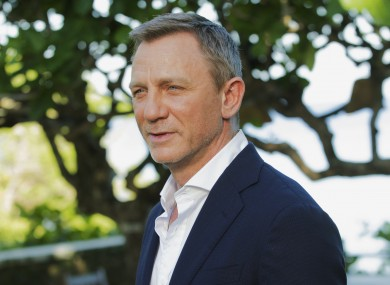 007 actor Daniel Craig at a photo call earlier this year.