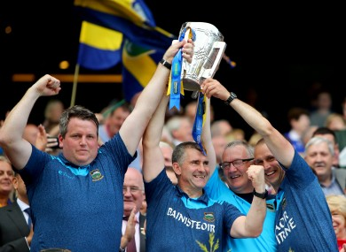 Tipperary boss Liam Sheedy with his management team.