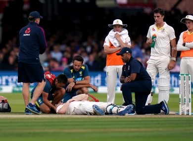 Smith was struck on the helmet by England bowler Jofra Archer.