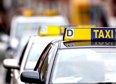 File photo. Taxi rank.