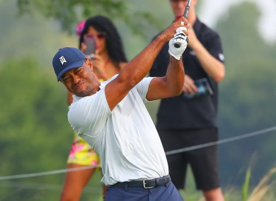 Woods struggled to a 75 on Thursday.