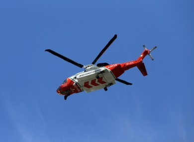 File photo of an Irish Coast Guard helicopter.