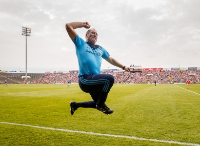 A jubilant Tipperary U20 hurling manager Liam Cahill.