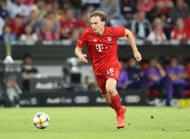 Ryan Johansson in action for Bayern Munich against Tottenham.