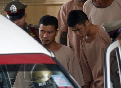Myanmar migrant workers Zaw Lin (L) and Win Zaw Tun have received death sentences.