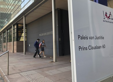 The first day of the trial was heard at the district court in The Hague today.