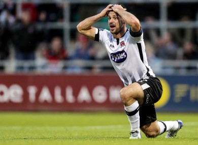 Dundalk's Pat Hoban reacts to a decision.