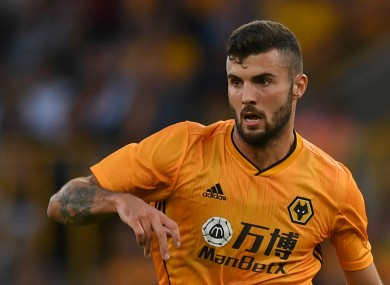 Patrick Cutrone pictured competing for Wolves.