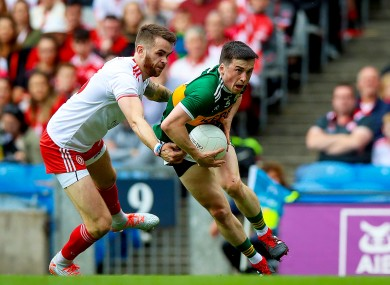 Paul Murphy in action against Tyrone in the All-Ireland semi-final.