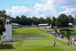 A general view of the 9th hole at the third round of the PGA Tour Championship at East Lake Golf Club
