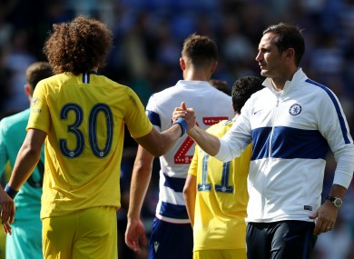 Luiz and Lampard after a pre-season friendly in July.