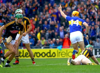 Callanan celebrates netting Tipperary's second goal.