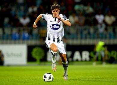 Sean Gannon in action against Qarabag in Baku last Wednesday.