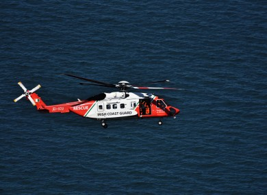 Coast Guard helicopter airlifts diver who got into