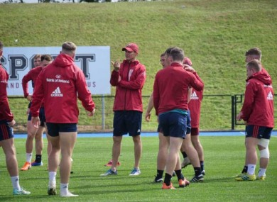 Larkham at Munster training in UL today.