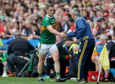 Stephen O'Brien with Peter Keane after the game.