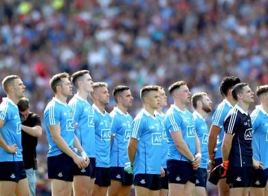 The Dublin team before last year's All-Ireland final against Tyrone.