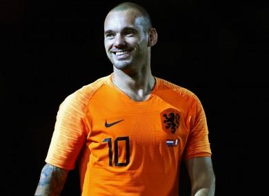 Former Netherlands star Wesley Sneijder.