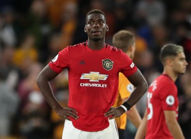Pogba missed a penalty against Wolves last night.