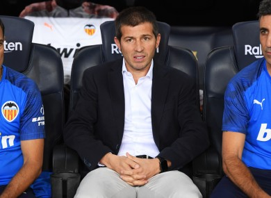Valencia boss Albert Celades.