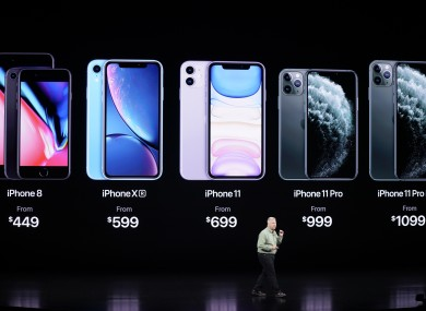 Phil Schiller, Senior Vice President of Worldwide Marketing, talks about the new iPhone 11 Pro and Max, during an event to announce new products.