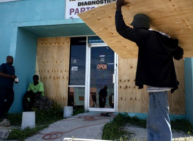 Businesses in the Bahamas have been boarded up ahead of the storm.